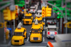 Streets of LegoNYC (sponki25) Tags: legonyc lego new york city streets taxis yellow cab moc