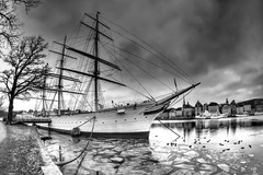 af Chapman (Jens Haggren (off for a while)) Tags: afchapman ship stockholm skeppsholmen water ice sky clouds samyang75mm