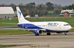 Boeing 737-430 YR-BAJ Blue Air (EI-DTG) Tags: planespotting aircraftspotting dublinairport dub eidw collinstown boeing boeing737 b737 busstopjet babyboeing 737classic yrbal blueair
