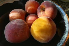 first peaches (foto*grafo) Tags: globalwarming peaches warmth summer melocotones