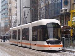 A Bombardier Flexity Outlook tram, İki Eylül Caddesi (2nd September Street), Eskişehir, Turkey (Steve Hobson) Tags: bombardier flexity outlook tram estram eskişehir