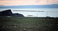 SP, Lakeside, Utah, 1986 (railphotoart) Tags: wb sp great salt lake stillimage lakeside utah unitedstates