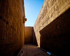 Behind the Sanctuary (mikeriddle1984) Tags: adventure edfu egypt history nile temple travel ancient carving hieroglyphics stone king pharaoh rameses