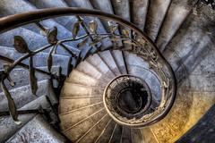 Wendeltreppe (Batram) Tags: urbex hotel ballroom ballsaal stairs circular wendeltreppe hdr lost place fürstenhof eisenach