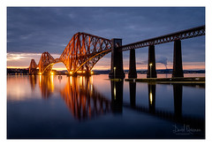 Forth Bridge (NorthernXposure) Tags: forthbridge queensferry southqueensferry hawespier calm still reflections dusk cantilever crossing rail railway