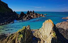 From the back of Burgh 2 (Rpearson86) Tags: bigbury devon coast water sea blue rocks rockpools sky spring sunshine clear burgh island