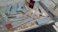 Parts primed 1 (malsfantasyfactory) Tags: rifle replica build oblivion