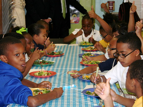 "Kids rate their salads a ""thumbs-up""!"