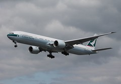 B-KQF Boeing 777-367ER Cathay Pacific (R.K.C. Photography) Tags: uk london heathrow aircraft boeing lhr airliners cathaypacific b777 777367er canoneos1100d bkqf