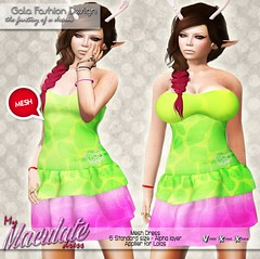 *GFD* - My Maculate Dress {AD} ({ .::Gala Fashion Design::. }) Tags: truth dress mesh skin avatar watermelon sl secondlife giraffe hunt mmorpg bbh evilbunny metaverse gfd maculate galafashiondesign