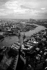 London in B&W (Massimo Usai) Tags: england bw building london architecture landscape europe view capital riverthames londonist theshard
