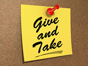 Give and Take (One Way Stock) Tags: give note deal take reminder accommodation arrangement settlement concession compromise