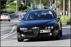 Alfa Romeo 159, Hong Kong (Bigmuse) Tags: auto china street camera windows hk cars car racecar speed canon lens phot