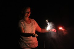 "Becky conducts with a pair of sparklers • <a style=""font-size:0.8em;"" href=""http://www.flickr.com/photos/27717602@N03/9248782203/"" target=""_blank"">View on Flickr</a>"