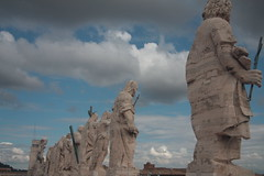 The Vatican City Statues Overlooking City (Knightvisions Productions) Tags: africa travel venice england italy rome film advertising blog video europe documentary blogger tourist professional international morocco worldwide casablanca marrakesh pompei locations videoproduction travelphotography travelphotos mediaproduction travelvideo knightvisionsproductions ashknight aknightstales wwwknightvisionsproductionscom