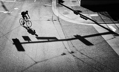 > (. Jianwei .) Tags: street city light shadow urban bike vancouver downtown geometry candid sony waterfrontstation jianwei kemily