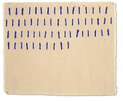 Obra Cachavas. GIORGIO GRIFFA. Puntini, 1970 Acrílico sobre tela. Galería Rafael Pérez Hernando (Madrid)