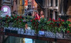 Venice (emptyseas) Tags: bridge flowers venice italy canal nikon susan no smiles ella photographs cameras venetian veneto d80 emptyseas