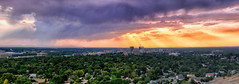 Boise City Skyline (fandarwin) Tags: sunset panorama sun skyline clouds downtown state panasonic idaho boise capitol rays crepuscular gf1 45200 darwinfan fandarwin