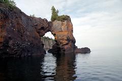 Rock arch (downclimb) Tags: 2001 minnesota unitedstates lakesuperior silverbay tettegouchestatepark
