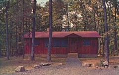 Cacapon State Park Deluxe Vacation Cabin - Berkeley Springs, West Virginia (The Cardboard America Archives) Tags: trees vintage nationalpark cabin postcard westvirginia berkeleysprings