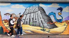 Walk the Walk (Thomas Hawk) Tags: sanfrancisco california coyote usa graffiti unitedstates unitedstatesofamerica cartoon missiondistrict roadrunner looneytunes fav10 wileecoyote