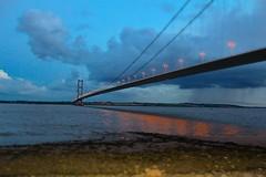 Calm before the storm... (laufar1) Tags: bridge canon toll hull calmbeforethestorm humberbridge supershot humberbridgeviewingarea