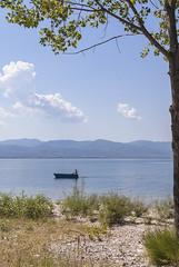 Boating (Spiros_Gioldasis) Tags: lake west tree nature landscape fishing fisherman pentax tranquility greece boating k10 spiros ελλάδα agrinio aitoloakarnania αιτωλοακαρνανία αγρίνιο σπύροσ trichonida γιολδάσησ spirosgioldasis gioldasis