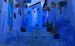 Blue 3 (orientalizing) Tags: desktop blue architecture morocco medina abstraction chefchaouen featured