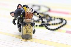 Colgante gatito negro (Jacarandahm) Tags: black necklace negro kitty polymerclay fimo gato luck pendant gatito suerte colgante trece arcillapolimérica
