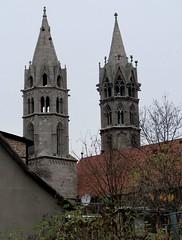 Liebfrauenkirche church (:Linda:) Tags: two church germany town kirche thuringia clocktower arnstadt liebfrauenkirche