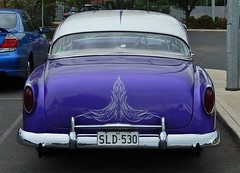 Boot with Flourish (mikecogh) Tags: chevrolet vintage boot purple superb rear trunk preserved care sleek flourish woodville