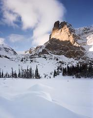 Notchtop Snow Drift (AlexBurke) Tags: park mountain lake snow film colorado rocky national 4x5 helene portra drift notchtop