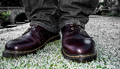 Dr Marten 1460, brown. (CWhatPhotos) Tags: pictures camera brown black ice leather yellow digital pen that lens lite four boot photo frost foto stitch image boots photos pics dr picture frosty pic olympus images have fotos penn stitching kit doc olympuspen marten which soles dm zuiko contain bouncing airwair thirds docmartens martens dms 8hole 1460 esystem bouncingsoles 1442mm mzuiko cwhatphotos epl5 elp5