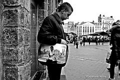 cassius (japanese forms) Tags: street urban bw man monochrome bag blackwhite random candid streetphotography streetlife archives frankrijk agfa muhammadali streetshot jonge cassiusclay vlaanderen mittelformat reup zwartenwit straatfotografie agfafilm floatlikeabutterflystinglikeabee remakeremodel schwarzundweis strasenfotografie japaneseforms2014