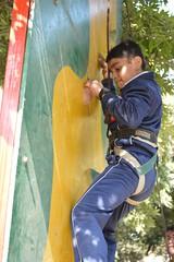 Wall climb (adventure camp)