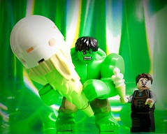 """Hulk has biggest one there is..."" (Legoagogo) Tags: ironman hulk tonystark chichester legoagogo"