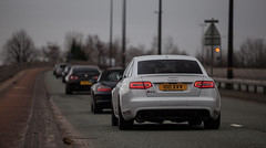 Unit 20 Audi RS6 - Supercar Convoy (Niall97) Tags: cars car canon manchester eos 50mm mercedes benz nissan f14 911 engine fast sigma exotic porsche l 5d fullframe audi meet f28 gumball gettogether sls gallardo amg exotics supercars gtr markii rs6 70200mm lamborgini traffordpark auotmotive aventador supercardriver