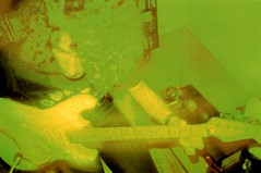 Green Flo (Ludovic Macioszczyk Photography) Tags: world life camera new eve winter boy music france hot records green art film yellow analog 35mm toy photography photo still lomo lca xpro lomography exposure shoot photographie cross kodak guitar burger flash picture sable lo scan m iso photographs fender chrome elite sound keep rod inside years 100 fi alive florian 135 charon processed amps contrasts colorsplash stratocaster 87 flo argentique limoges 128 photographe 32mm ludovic ngatif pellicule ludos minitar 2013 dveloppement macioszczyk acouphonic