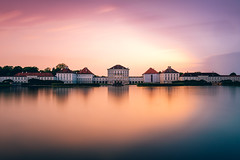 Nymphenburg Castle Sunset (_flowtation) Tags: longexposure nightphotography sunset orange reflection castle water night reflections germany munich mnchen bayern deutschland bavaria lights pond nikon europe sonnenuntergang cloudy nacht palace citylights florian schloss spiegelung nachtfotografie nymphenburg nymphenburgpalace langzeitbelichtung chateu schlos leist flowtation nymphenburgerschloss nikond4 nymphenburgerschlos florianleist florianleistphotography florianleistfotografie flowtationde florianleistde