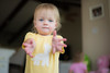 "Ready to ""Ring Around the Rosie"" (donnierayjones) Tags: baby game girl yellow shirt hands toddler play folk nursery sing giraffe reach hold ringaroundtherosie folksong rhymes holdhands nurseryryhmes ringaringoroses"