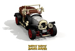 Chitty-Chitty Bang-Bang (lego911) Tags: auto classic 1969 film car vintage movie airplane fly flying model lego engine aeroplane 1910s veteran challenge aero 79 lugnuts moc wingnuts bangbang pland miniland dickvandyke chittychitty lego911 lugnutsgoeswingnuts