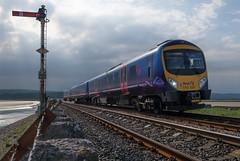 Arnside Viaduct (Mister Oy) Tags: england train coast diesel cumbria davegreen arnside morecambebay dmu kentestuary oyphotos oyphotos