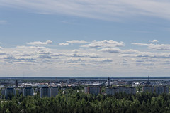Oulu Days - Views from Vlivainio water tower (Juho Holmi) Tags: oulu suomi finland pohjoispohjanmaa northern ostrobothnia norra sterbotten city scenery skyline tower water sea vlivainio sun sunny weather europe european union finnland finlandia pentax k5 k 5 sigma af 1770mm f2845 dc macro 17 70 28 45 thisisfinland visitfinland