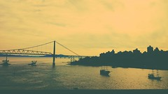 it makes me feel good (marinamferri) Tags: city bridge brazil landscape town florianópolis pontehercilioluz