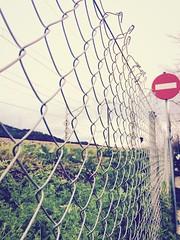 #stop #prohibido #vallas #rejas #señales #parar habrá que buscar otro sitio, porque pasar, paso. (ImmaHO) Tags: stop prohibido vallas rejas señales parar