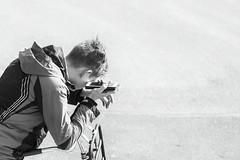 © Inge Hoogendoorn (ingehoogendoorn) Tags: smartphone phone iphone heartbroken boy triste sad sigaret cigarette smoke depressed posture bike bicycle blackandwhite blacknwhite streetphotography straatfotografie streetscene