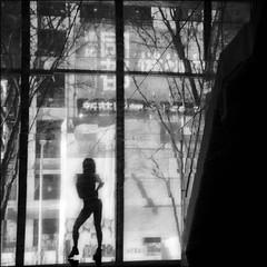 F_47A9415-1-BW-Canon 5DIII-Tamron 28-300mm-May Lee 廖藹淳 (May-margy) Tags: alonedancer maymargy bw 黑白 大理石 marble 地坪 floor 玻璃 窗 倒影 街道 窗框 大樓 剪影 街拍 streetviewphotographytaiwan 線條造型與光影 linesformandlightandshadows 天馬行空鏡頭的異想世界 mylensandmyimagination 心象意象與影像 naturalcoincidencethrumylens humaningeometry 新北市 台灣 中華民國 taiwan repofchina f47a94151bw portrait silhouette dancer 獨舞 舞者 練習 practicing reflection glass window 枯樹 trees newtaipeicity canon5diii tamron28300mm maylee廖藹淳
