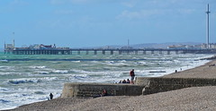 Life on the coast....... (Gary-West Sussex) Tags: pier brighton groyne shingle i360 palace palacepier westpier brightonpier