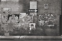 Pittsburgh Alley Wall (cobbu2) Tags: yashica tlelectro 50mm f19 auto yashinon ds kodaktrixpushedtoiso3200 tx